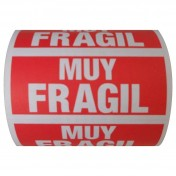 "Etiquetas adhesivas ""MUY FRÁGIL"" (120 x 50 mm)"
