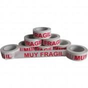 """Precinto """"MUY FRAGIL"""" serigrafiado en polipropileno acrílico (36 rollos/caja)"""