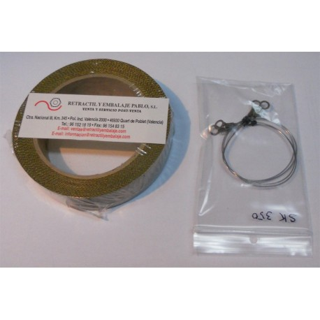 Teflón y resistencias para la retractiladora manual MRM-300