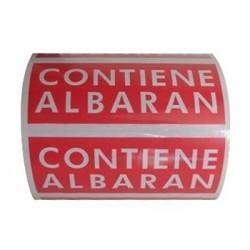 Etiquetas adhesivas CONTIENE ALBARAN