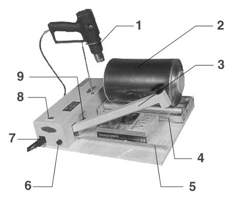 Componentes de retractiladora manual MRM-450