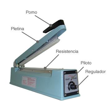 Componentes de la selladora de bolsas MSLL 300