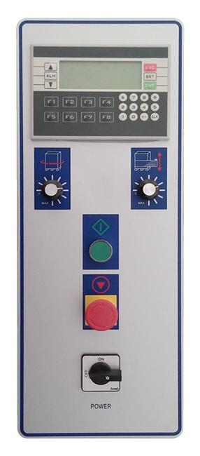 Panel de control de la enfajadora de palets