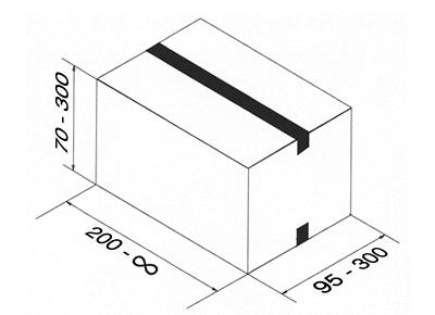 Tamaño de las cajas para esta precintadora